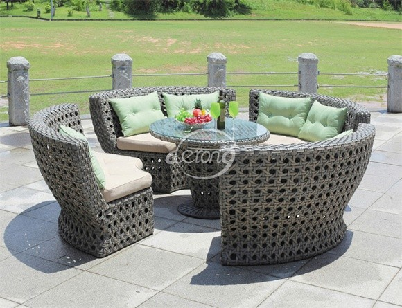 Cheap Bali Island Holiday Style Outdoor Wicker Furniture