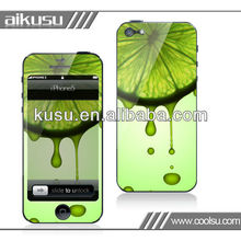 Fruit design iphone5 screen protector factory price