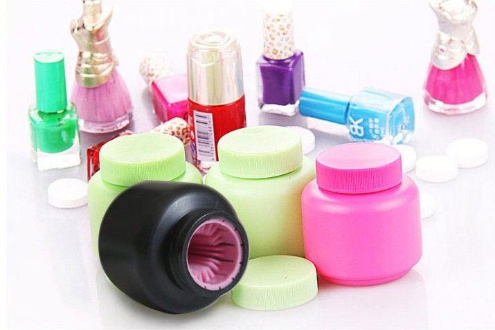 2014 hottest promotion gift nail cleaning device and christmas gift nail art brush glass bottles nail polish bottle