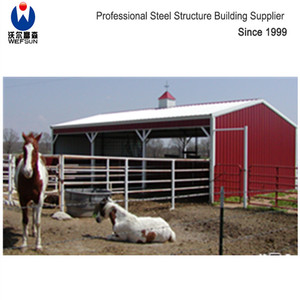 China design low cost prefabricated steel cow / cattle / sheep / horse shed / farm building / house / barn