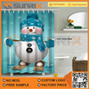 Snow Man Christmas Style Polyester Bathroom Shower Curtain