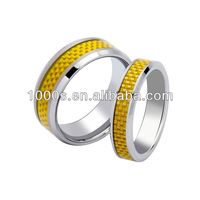 High End Tungsten Carbon Fibre Ring For Gift