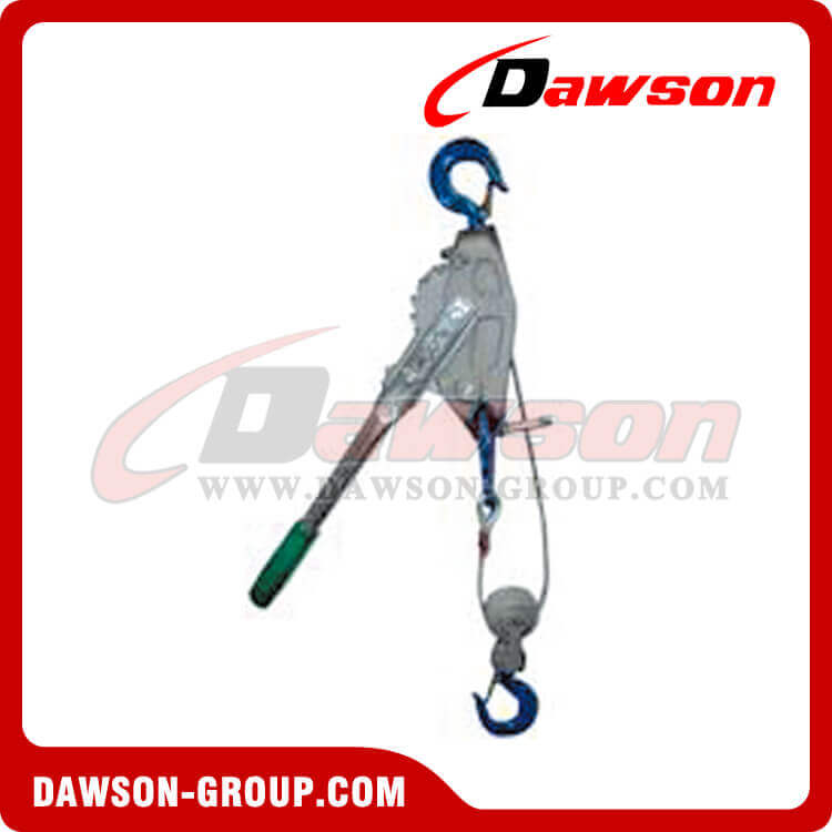 DAWSON Cable Ratchet Lever Hoist with double hooks