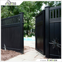 High Quality White Black Vinyl Privacy Fence Factory