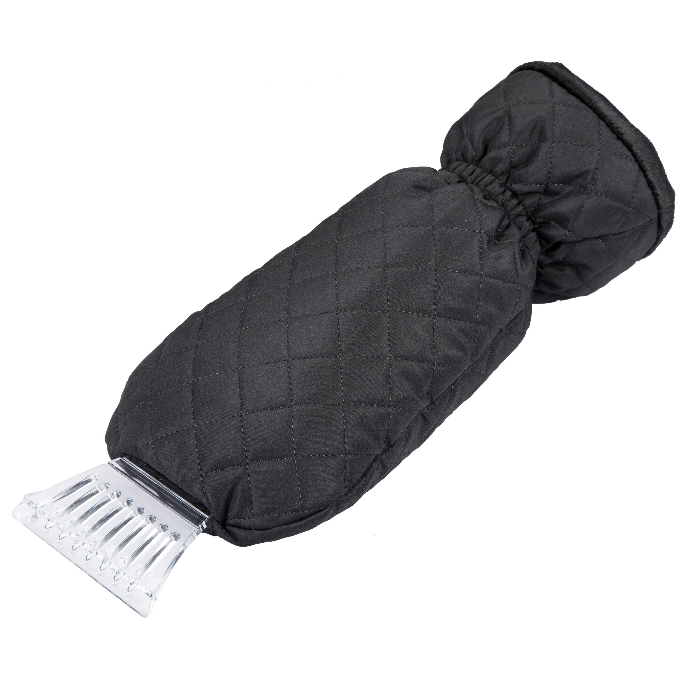Zone Tech Waterproof Car Ice Snow Scraper Mitt Fleece Glove Window Windshield
