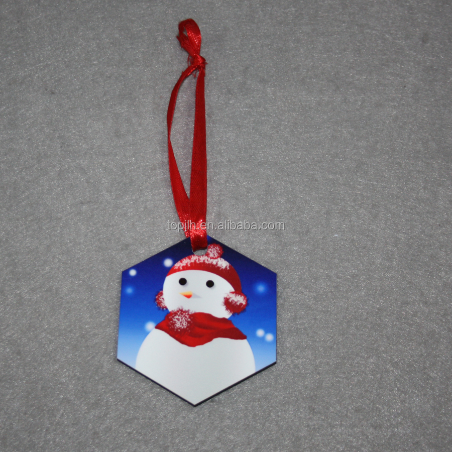 Make your own design sublimation wood ornaments for Christmas tree