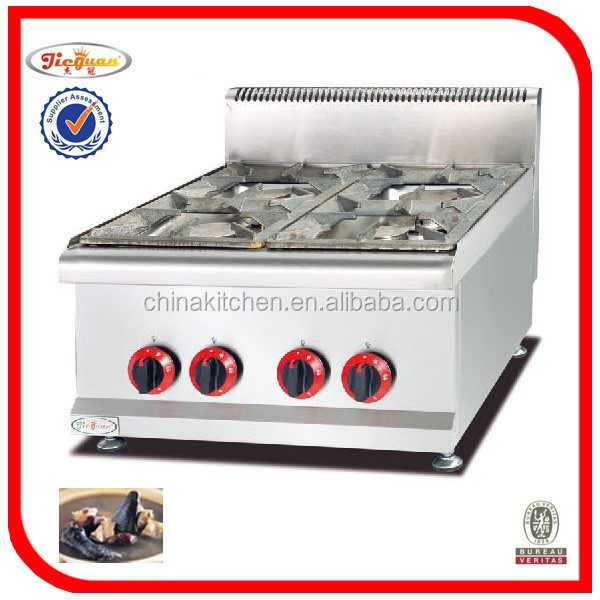 Guangzhou Commercial Gas Stove With 4 Burner Gh-587