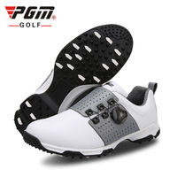 Top quality men's golf shoes microfiber leather golf shoes non-slip rotation shoelace