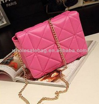 Women Long Chain Sling Bag Leather Quilted Messenger Bag Lady ...