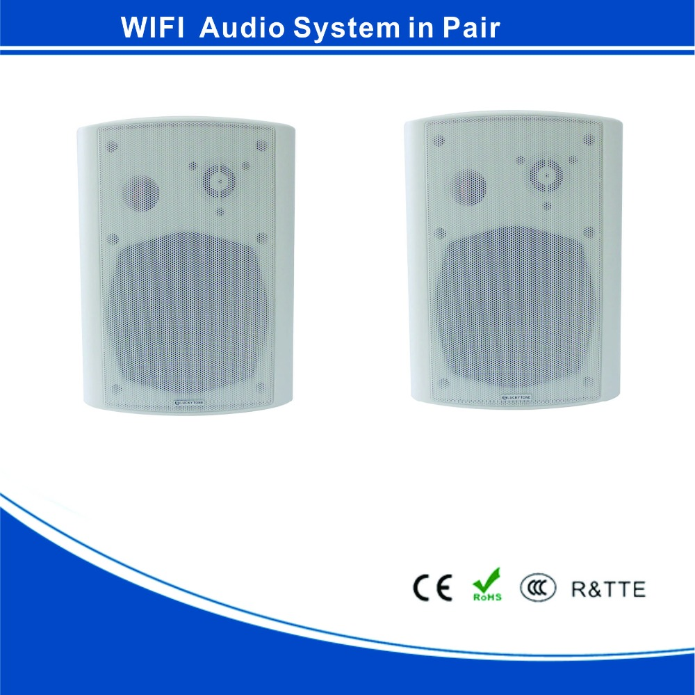 "AB-5230 Stereo WIFI and app control 5"" wireless active cabinet speaker 2 * 30W for home and commercial"