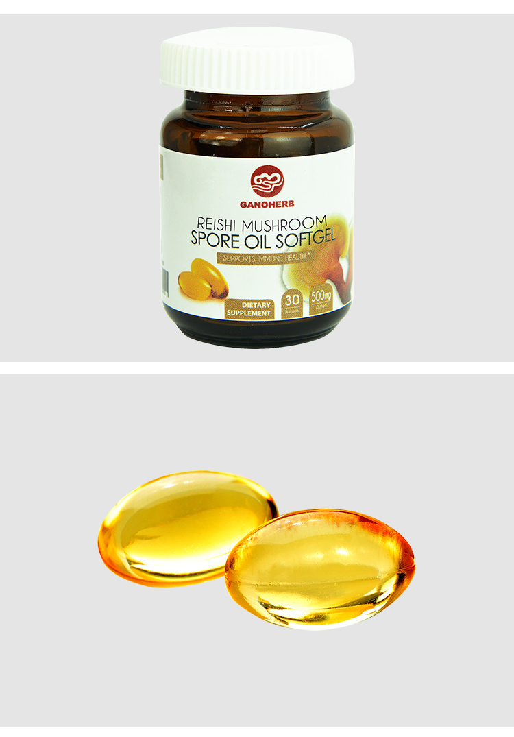 100% Organic Pure Anti Cancer Ganoderma Lucidum Reishi Mushroom Extract Spore Oil Softgel Triterpene