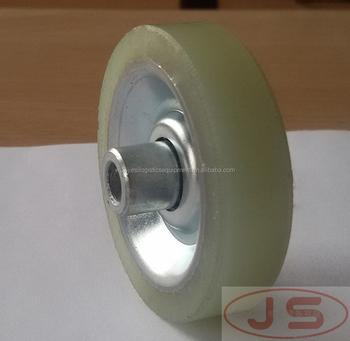Diameter 47 Pu Rubber Coated Wheel & Wheel Conveyor W-47pu - Buy Pu Foam  Rubber Wheels,Portable Roller Conveyor,Rubber Coated Steel Wheel Product on