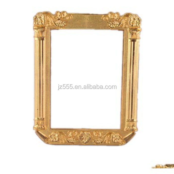 New gold square designer double sided plastic picture frame