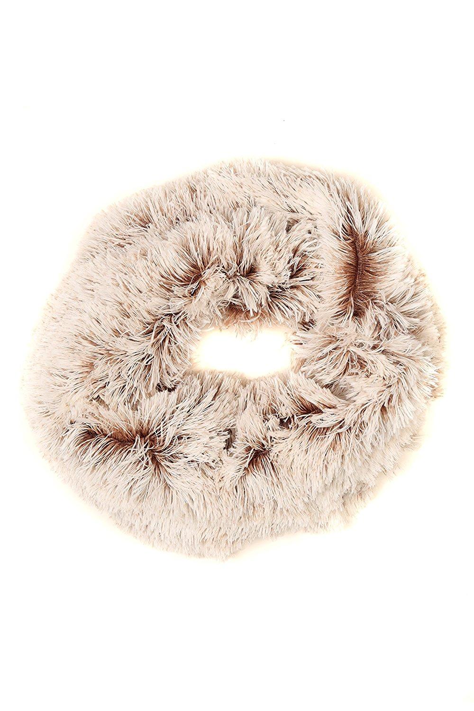 Sakkas Abir Soft Furry Reversible Short Twist Wrap Around Infinity Scarf