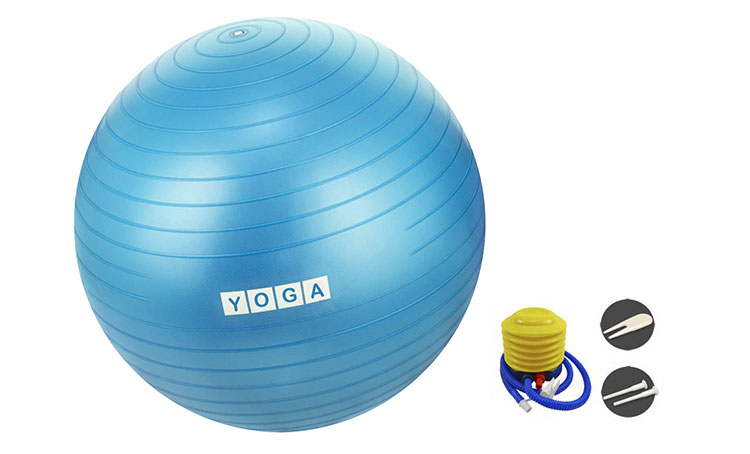 Accept Customized Logo color Slip Resistant thick and strong pvc yoga ball
