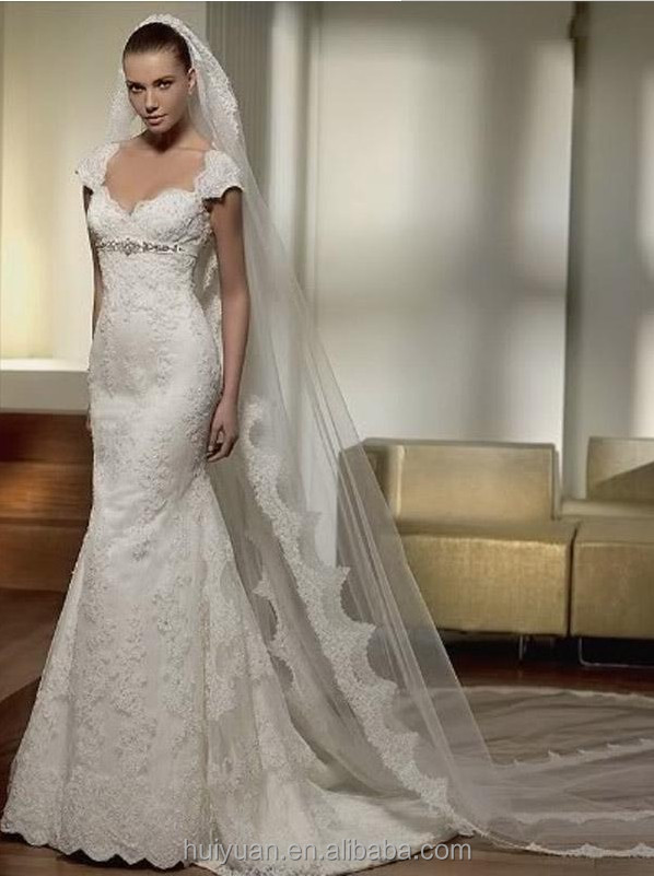 Lace Beaded Elegant Deep V Collar Wedding Dresses For Pregnant ...
