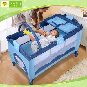 Baby cot bed prices with music, canopy baby travel cot, portable deluxe baby crib