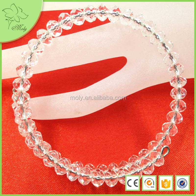 2016 Hot Sale Infinity Personalized Popular At High Quality White Glass Crystal Bangles