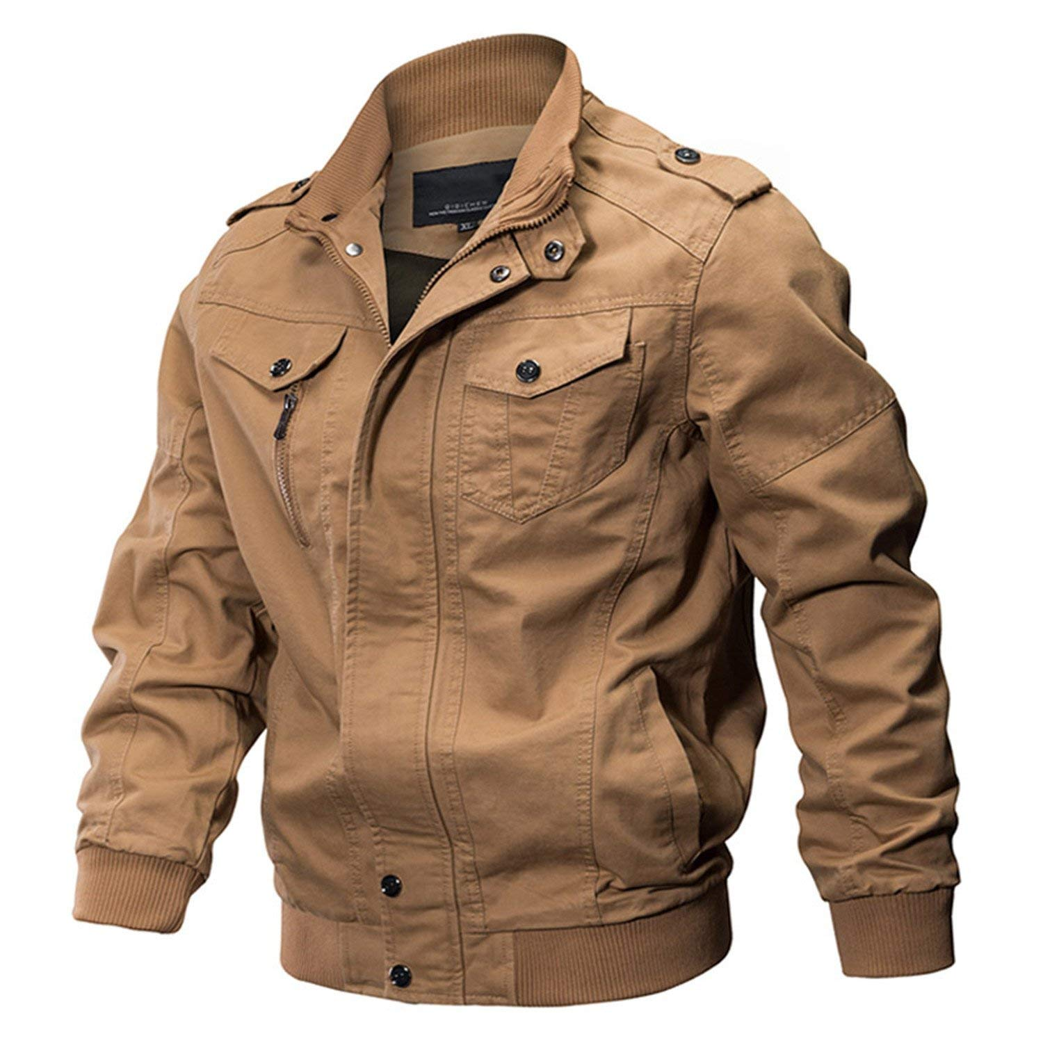 ddc16c0181 Get Quotations · Willie Marlow Military Jacket Men Winter Cotton Jacket  Coat Army Pilot Jackets Air Force Spring Cargo