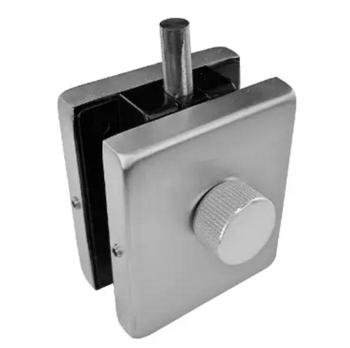 Frameless Glass Door Locks Dead Bolt Strike Plate Thumb Turn Lock