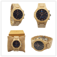 Smart watch sport bamboo wood for man and watches ladies quartz waches 2017