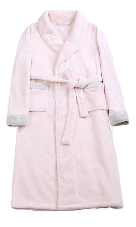 Get Quotations · Papijam Womens Winter V-neck Flannel Thick Flannel  Homewear Bathrobe 2e27b5857