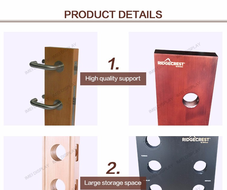 Hot sale lock tool wood rack retail counter display stands