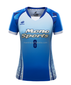 64be8d91a6ab1 Personalizado sublimada camisas de vôlei de manga curta mulheres camisa  esporte