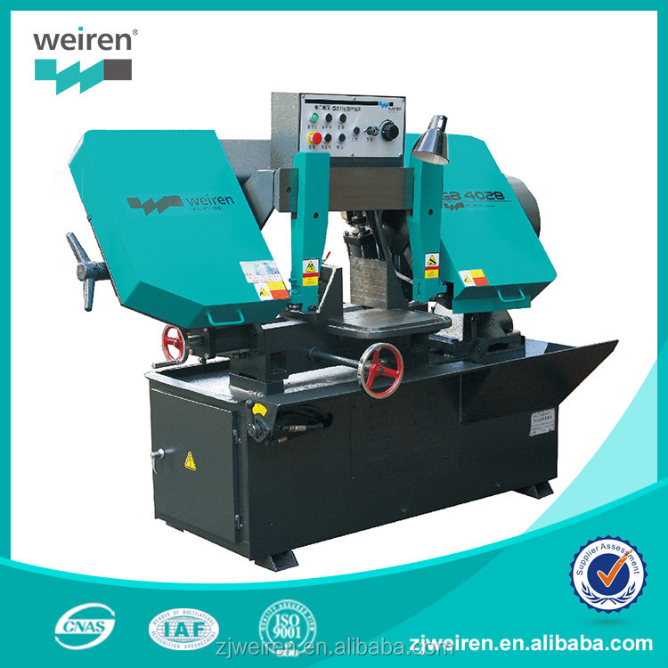 GB4028 Horizontal metal cutting band saw machine