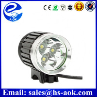 3*CREE XM-L T6 3600 lumens LED Bicycle Rechargerable Lighting Hunting Sport Outdoor Bike light