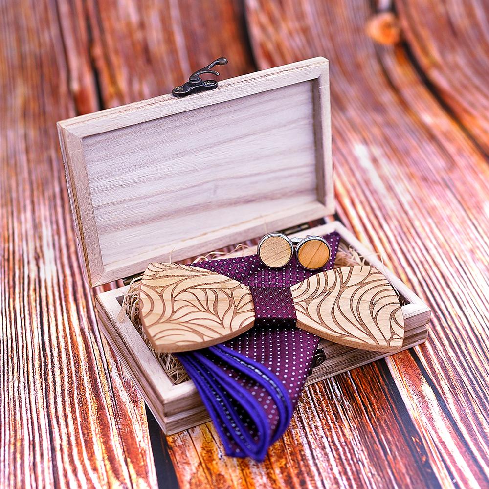 New Arrival Floral Wood Bow Ties for Men Bowtie Butterflies Wedding suit wooden bowtie Shirt krawatte Bowknots Slim tie