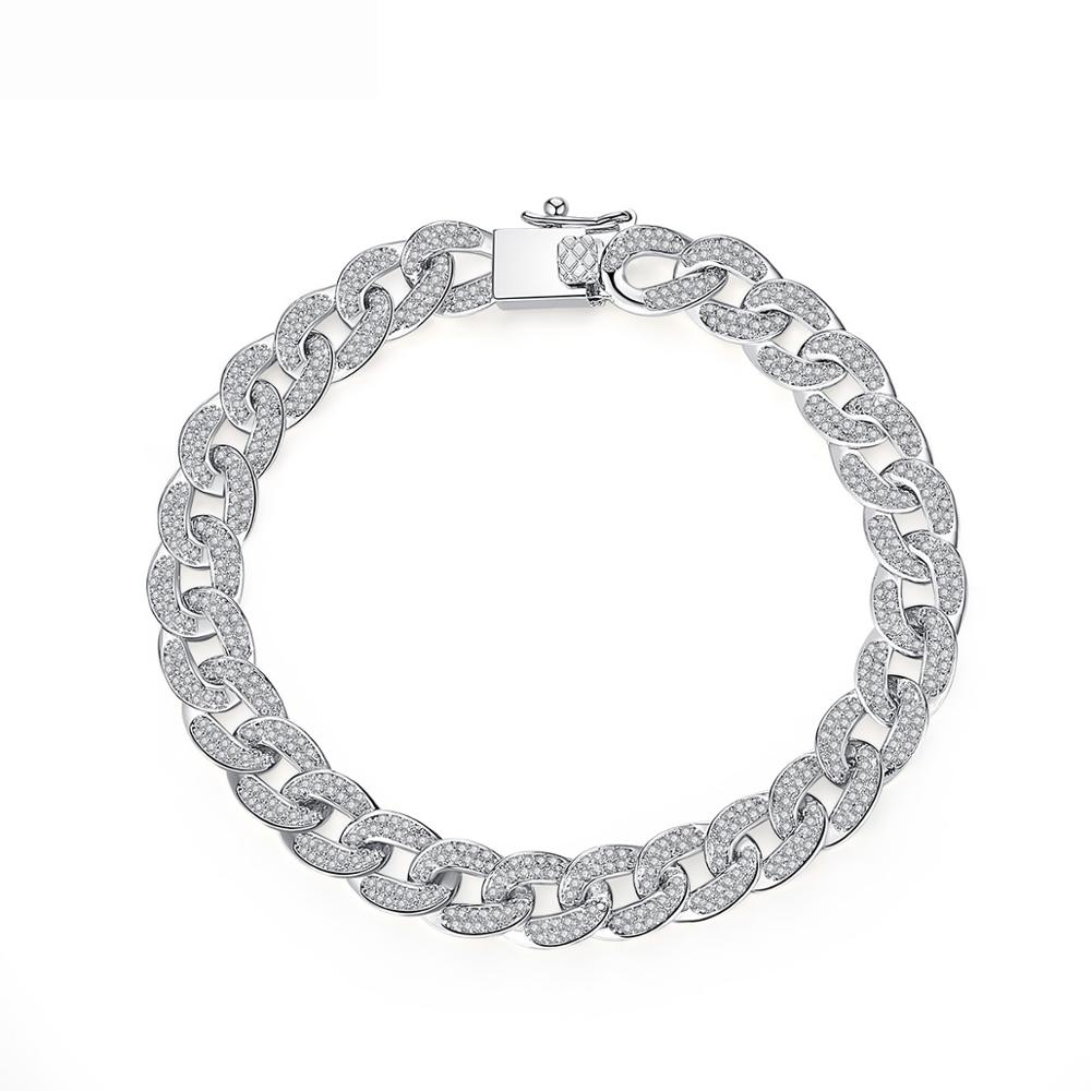LUOTEEMI Hot Fashion Simple Irregular Luxury <strong>Clear</strong> Chain Bracelet Paved <strong>Micro</strong> CZ <strong>Crystal</strong> For Women Party Gift