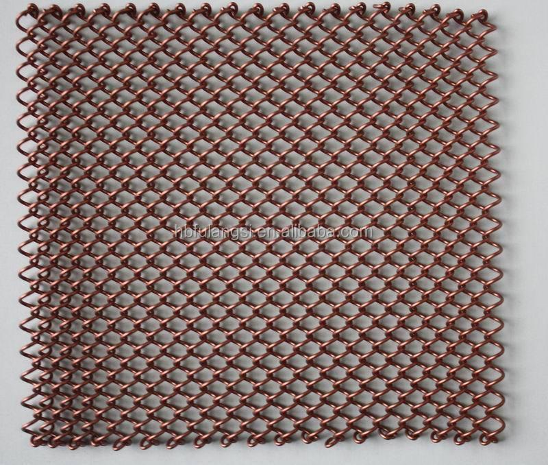 Best Price Decorative Chain Link Curtain Mesh Decorative Metal Curtain Fireplace Mesh Curtain