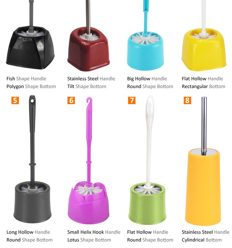 Toilet Brush Manufacturer Cheap Price Plastic Cleaning Brush With Plasin Handle