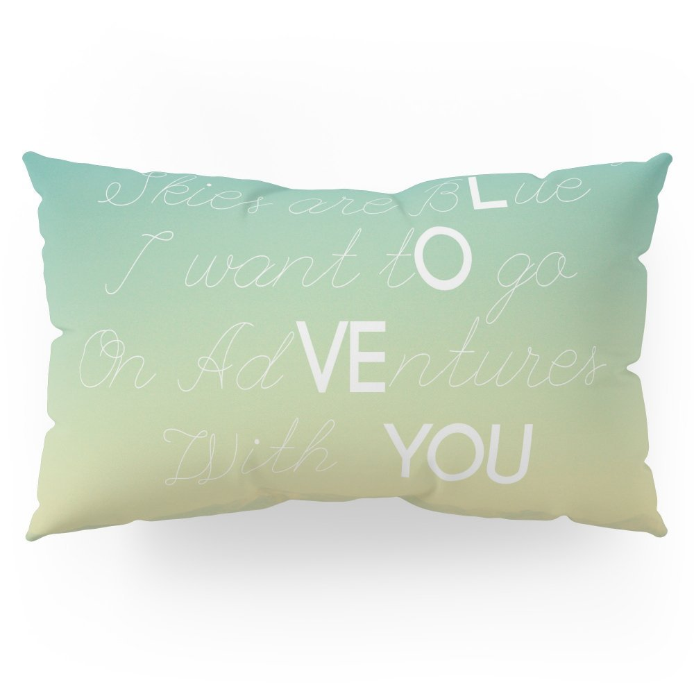 """Society6 Adventures And I Love You Pillow Sham King (20"""" x 36"""") Set of 2"""