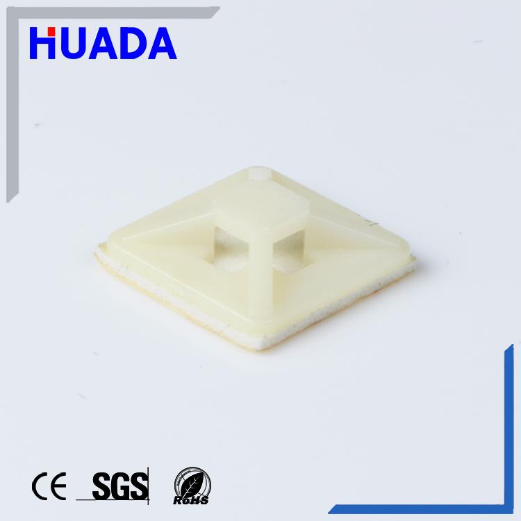 Huada nylon Self-adhesive cable tie fixed mounts