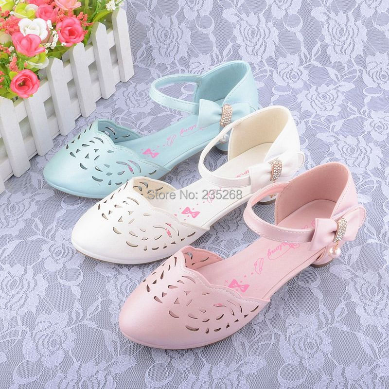 Girls Mary Jane Shoes Open Heel