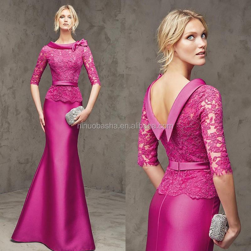 Venta al por mayor vestidos manga al codo-Compre online los mejores ...
