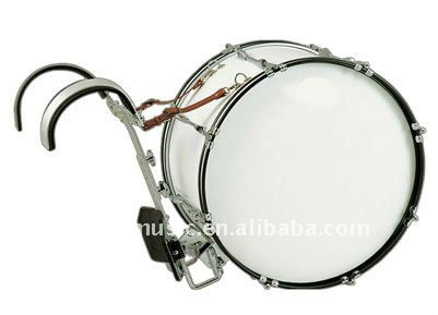 Marching Bass Drum, marching snare drum, china snare drum