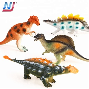 Solid plastic colorful dinosaur models toys set for kid