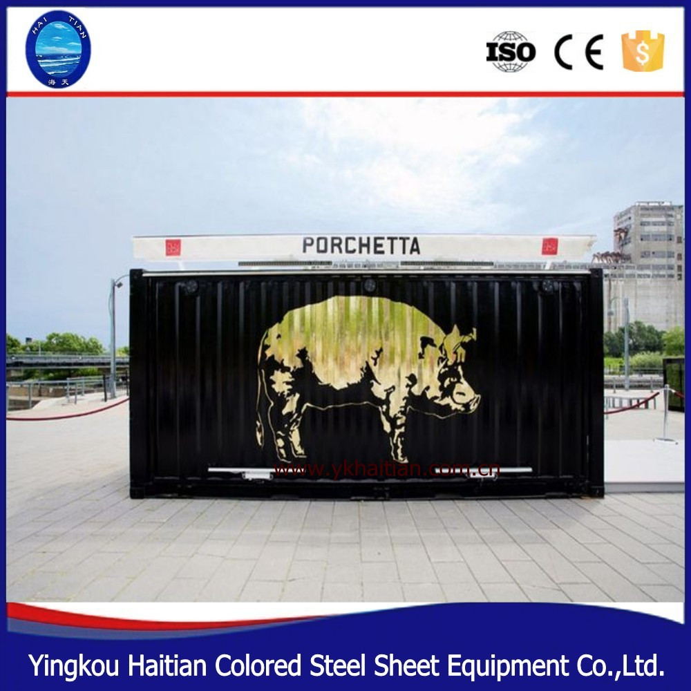 modern living container house sandwich panel steel structure
