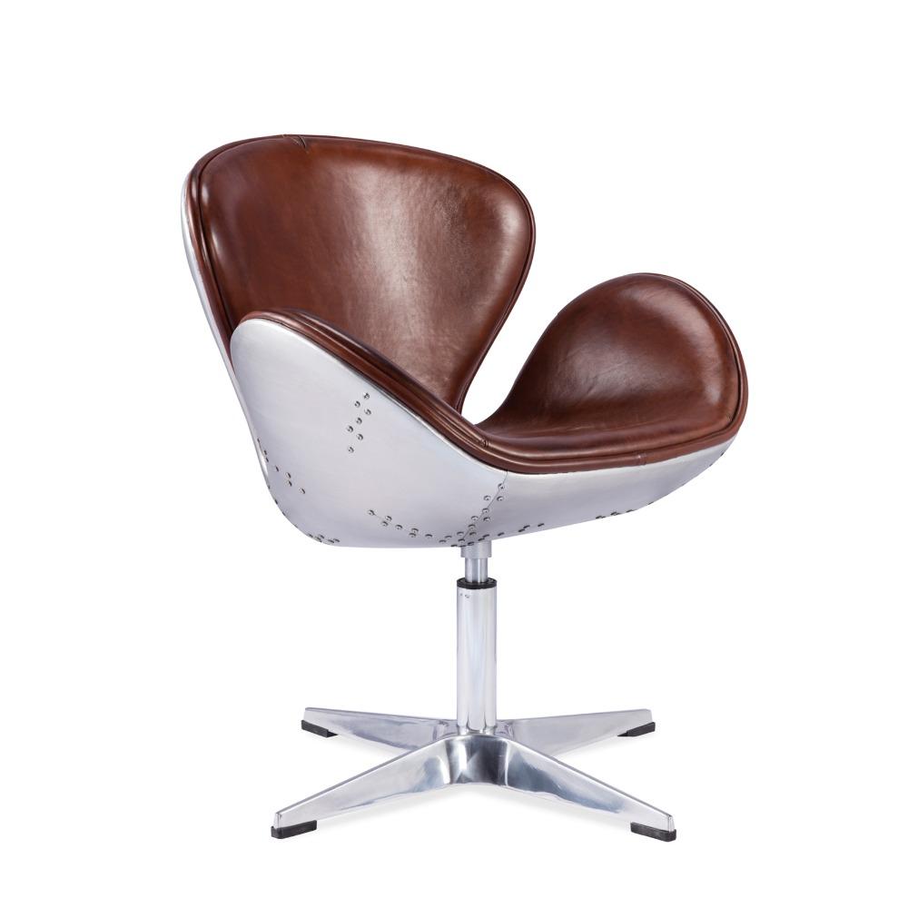 El salón Silla de cuero silla sin brazos sofá con marcos de metal ...
