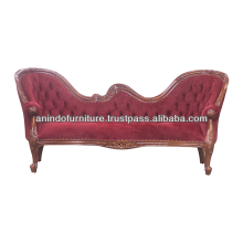 Mahogany Natural Butterfly Sofa 3 Seater