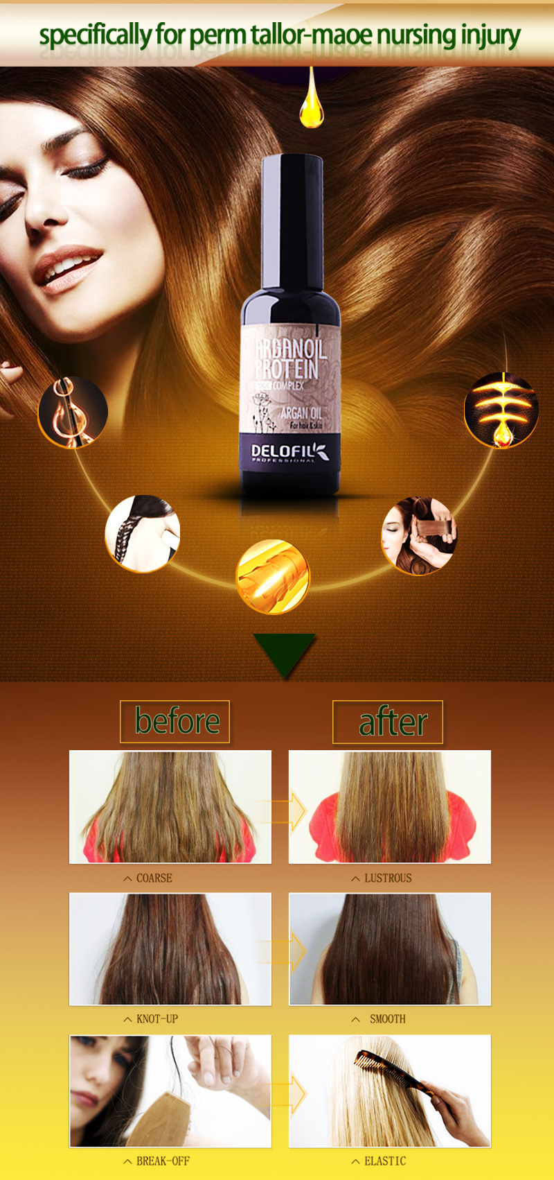 nature cosmetic argan oil thai pure coconut oil keratin and argan oil nourish sleek hair serum