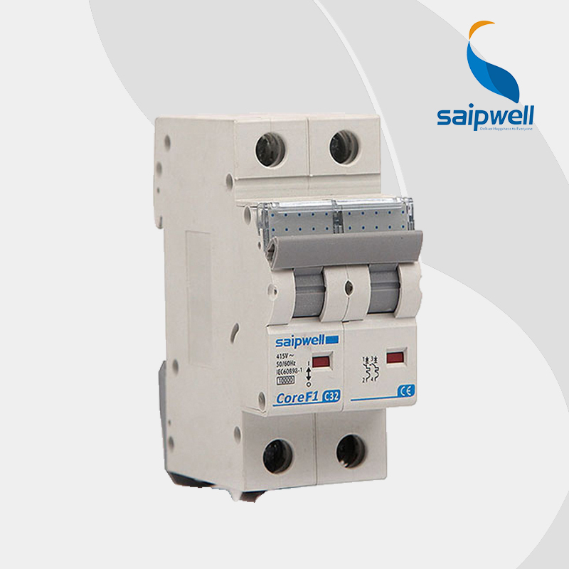 Saipwell SPF1-2-63 C32 Mini Electrical Circuit Breaker Single Pole Suit for Home