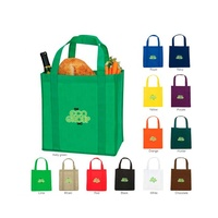 Heavy Duty Eco Friendly Custom Printed Recycle Non Woven Fabric Tote Reusable Grocery Shopping Bags