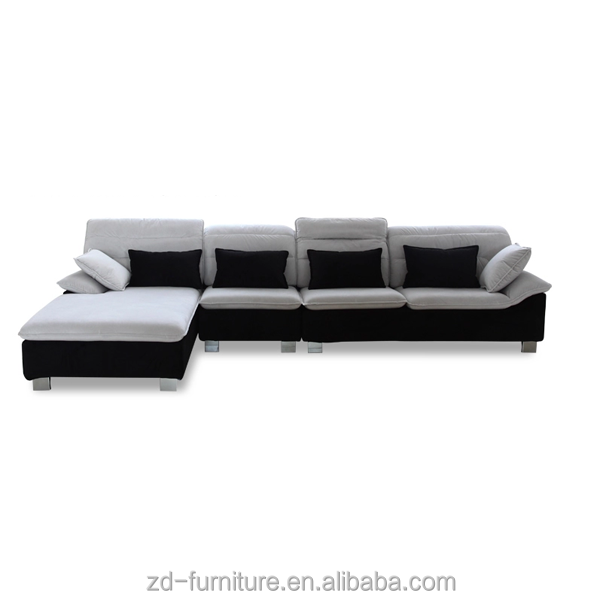 white and black sectional sofa, adjustable sofa set, Factory Sofa Design And Price Living Room Furniture
