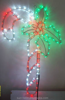Candy cane with a leaf lecorative light led rope light buy candy candy cane with a leaf lecorative light led rope light mozeypictures Gallery
