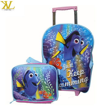 39b94ae50dc New Cartoon Children Finding Dory Backpack With Lunch Bag