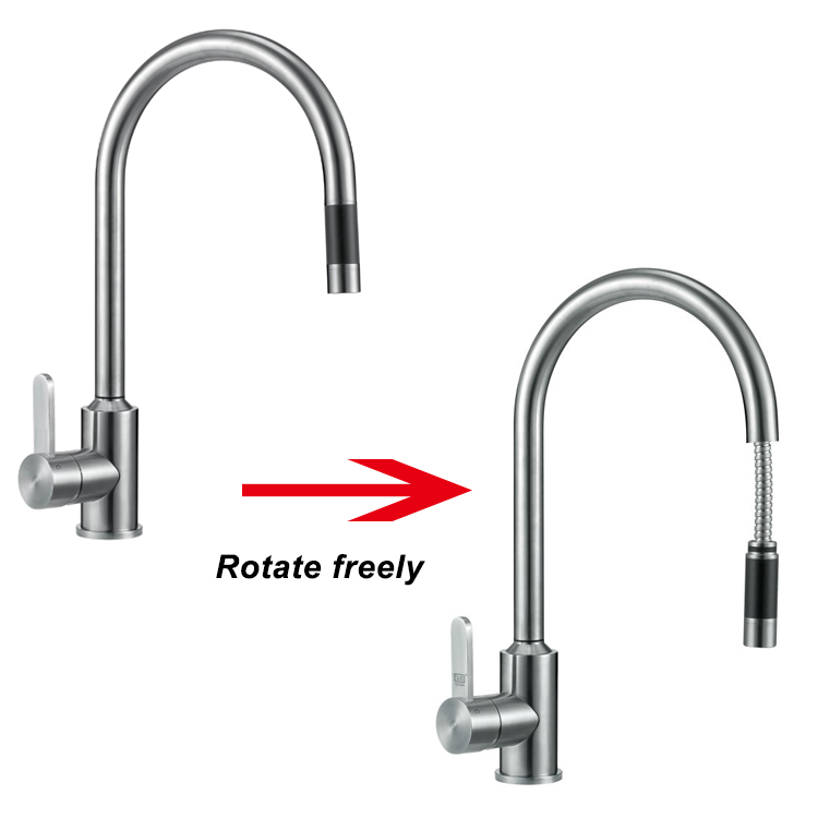 New Kitchen Designs Stainless Steel One Hole Faucet Kitchen